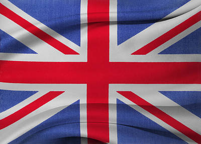 Waving Flag Photograph - Union Jack Flag by Les Cunliffe