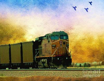 Union Pacific Coal Train Art Print