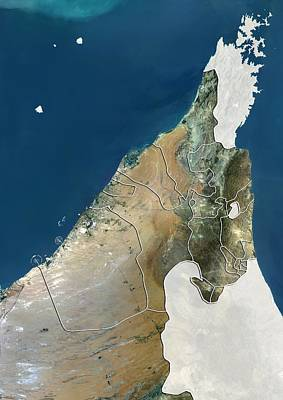 United Arab Emirates, Satellite Image Art Print by Science Photo Library