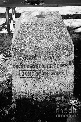 Benchmark Photograph - United States Coast And Geodetic Survey Basic Bench Mark Key West Florida Usa by Joe Fox