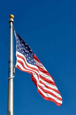 United States Flag Art Print by Brandon Bourdages