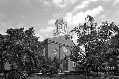 University Of Dayton Chapel Art Print by University Icons