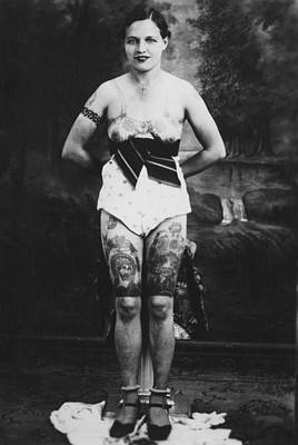 Vintage Tattoo Photograph And Flash Art Original