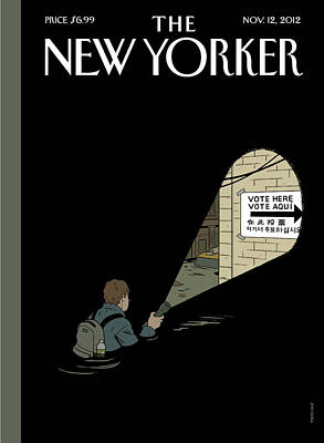Government Photograph - New Yorker November 12th, 2012 by Adrian Tomine