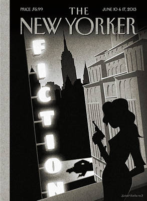 2013 Painting - New Yorker June 10th, 2013 by Birgit Schoessow