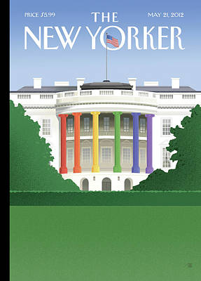 Acceptance Painting - New Yorker May 21st, 2012 by Bob Staake