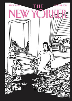 New Yorker September 26th, 2011 Art Print by Bruce Eric Kaplan
