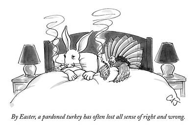 By Easter, A Pardoned Turkey Has Often Lost All Art Print