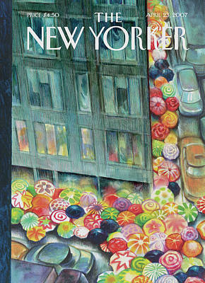 Crowd Painting - New Yorker April 23rd, 2007 by Carter Goodrich