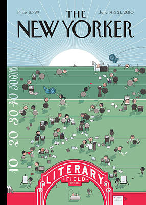 2010 Painting - New Yorker June 14th, 2010 by Chris Ware