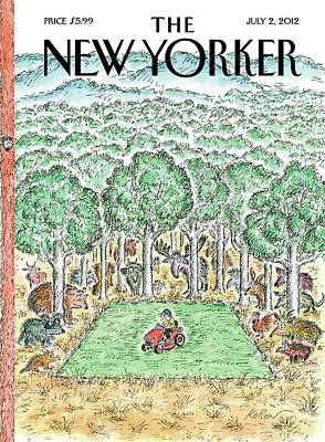 Trees Painting - New Yorker July 2nd, 2012 by Edward Koren