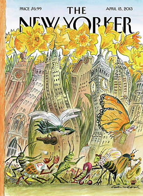 2013 Painting - New Yorker April 15th, 2013 by Edward Sorel