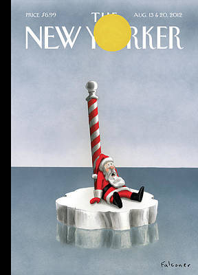 Santa Wall Art - Painting - New Yorker August 13th, 2012 by Ian Falconer