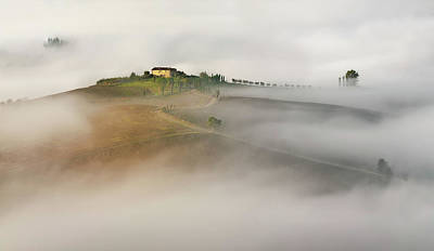 Foggy Road Photograph - Untitled by Izidor Gasperlin