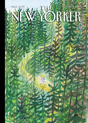 Cycles Painting - New Yorker August 2nd, 2010 by Jean-Jacques Sempe