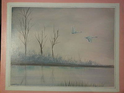 Snow Geese Mixed Media - Untitled by Jeff Mays