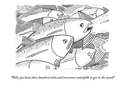 Salmon Drawing - Well, You Have Three Hundred Miles And Two More by Jose Arroyo