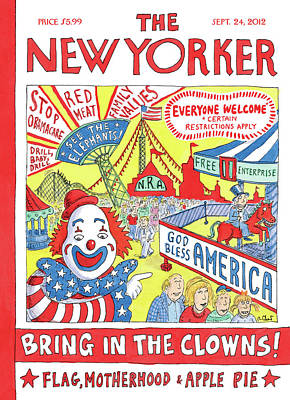 Republican Painting - New Yorker September 24th, 2012 by Roz Chast