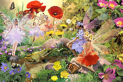 Fairies And Frog Prince Art Print