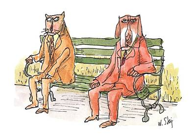 Park Benches Drawing - New Yorker May 21st, 2001 by William Steig