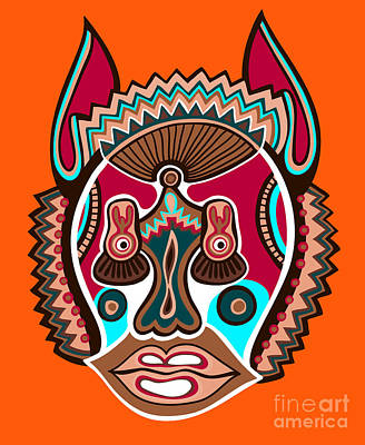 Tribal Wall Art - Digital Art - Unusual Ukrainian Traditional Tribal by Karakotsya