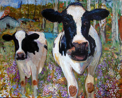 Up Front Cows Art Print