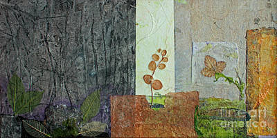 Ruins Mixed Media - Up Through The Cracks by Catherine Sprague
