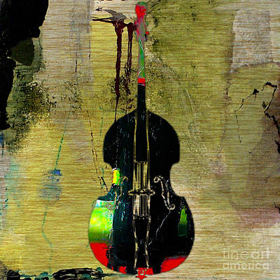 Upright Bass Mixed Media - Upright Bass by Marvin Blaine