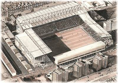 Upton Painting - Upton Park - West Ham United by Kevin Fletcher