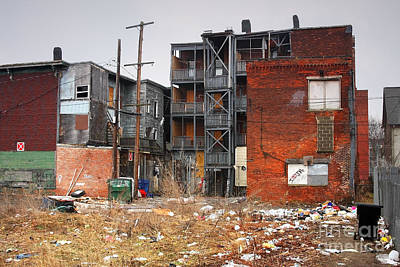 Ghetto Photograph - Urban Blight by Denis Tangney Jr