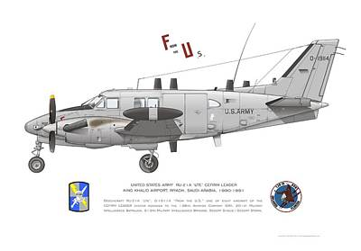 Beechcraft Digital Art - U.s. Army Ru-21a by Rick Blyseth