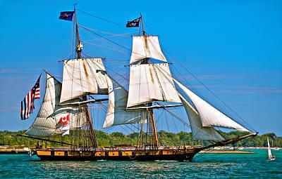 Tall Ship Photograph - Us Brig Niagra  by Steve Harrington