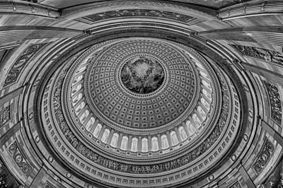 Us Capitol Rotunda Art Print by Susan Candelario
