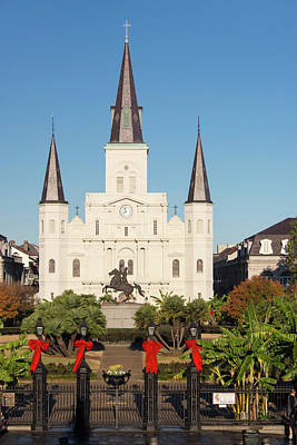 St Louis Square Photograph - Us, La, New Orleans by Trish Drury