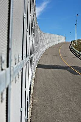 Us-mexico Border Fence Art Print by Josh Denmark - U.s. Customs And Border Protection/science Photo Library