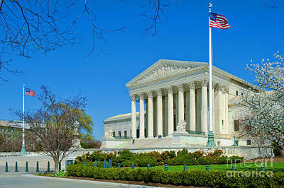 Photograph - Us Supreme Court Building Washington Dc by David Zanzinger