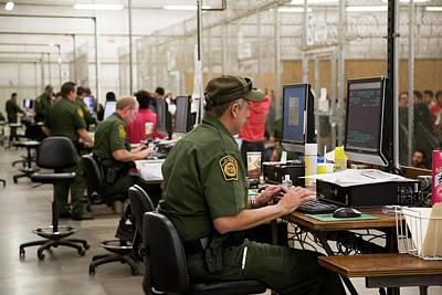 Usa Border Control Art Print by Jim West
