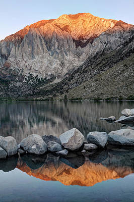 Mammoth Photograph - Usa, California Convict Lake At Sunrise by Jaynes Gallery