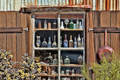 Antique Bottles Photograph - Usa, California, Randsburg by Jaynes Gallery