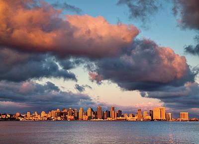 San Diego Harbor Photograph - Usa, California, San Diego, City by Ann Collins