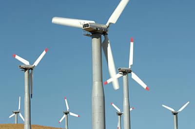 Usa, California, Wind Farm, Wind Power Art Print