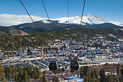 Mount Baldy Photograph - Usa, Colorado, Breckenridge, Ski Lift by Walter Bibikow