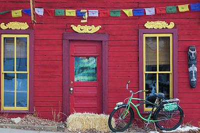 Colorado Flag Photograph - Usa, Colorado, Crested Butte, Tibetan by Walter Bibikow