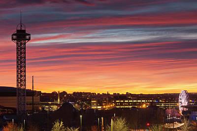 Theme Park Photograph - Usa, Colorado, Denver, City View by Walter Bibikow