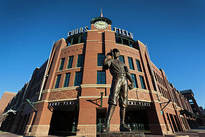 Coors Field Photograph - Usa, Colorado, Denver, Coors Field by Walter Bibikow