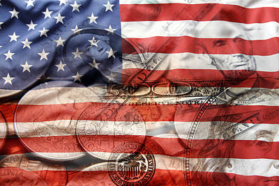 Usa Finance Art Print by Les Cunliffe
