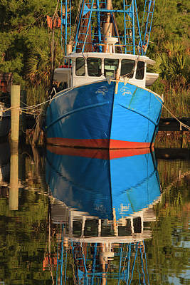 Usa, Florida, Apalachicola, Shrimp Boat Art Print