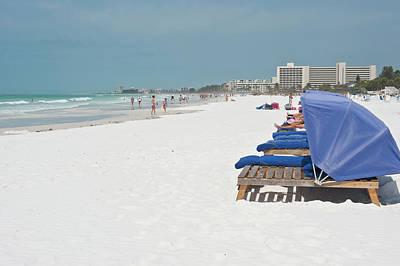 Large Format Photograph - Usa, Florida, Sarasota, Crescent Beach by Bernard Friel