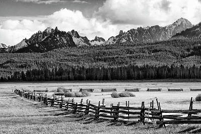 Split Rail Fence Photograph - Usa, Idaho, Sawtooth National by Jaynes Gallery