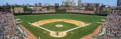 Ballpark Photograph - Usa, Illinois, Chicago, Cubs, Baseball by Panoramic Images